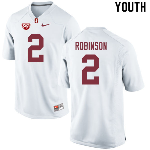 Youth #2 Curtis Robinson Stanford Cardinal College Football Jerseys Sale-White