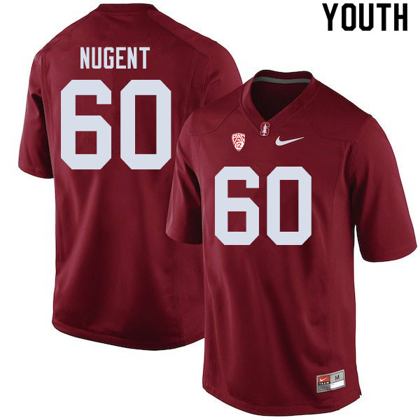 Youth #60 Drake Nugent Stanford Cardinal College Football Jerseys Sale-Cardinal