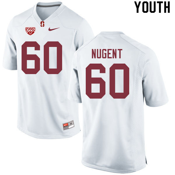 Youth #60 Drake Nugent Stanford Cardinal College Football Jerseys Sale-White