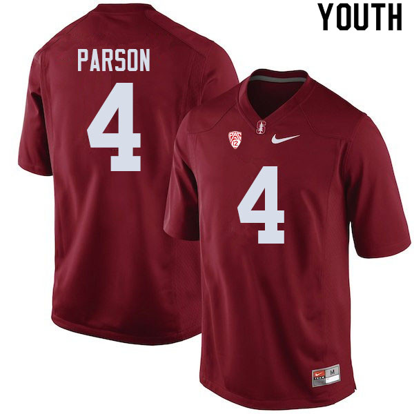 Youth #4 J.J. Parson Stanford Cardinal College Football Jerseys Sale-Cardinal