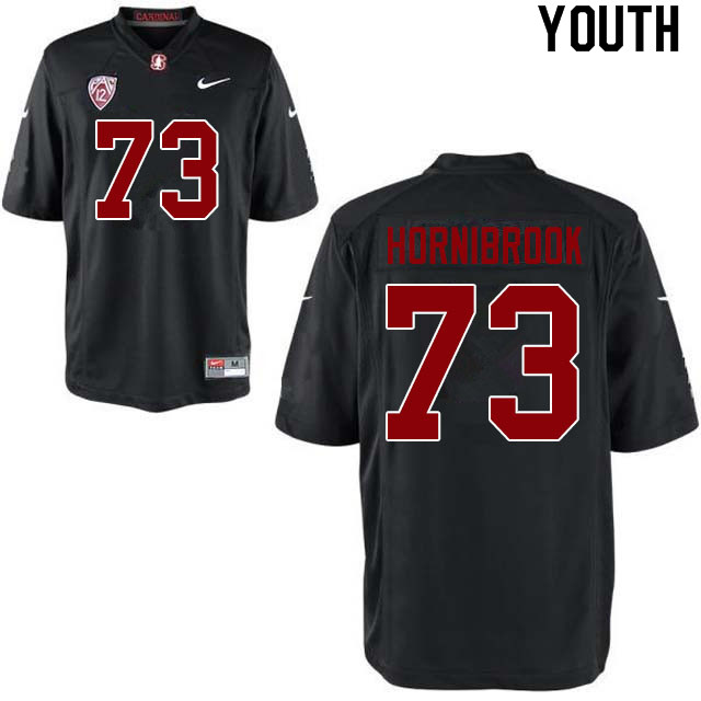Youth #73 Jake Hornibrook Stanford Cardinal College Football Jerseys Sale-Black