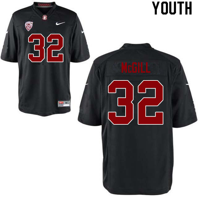 Youth #32 Jonathan McGill Stanford Cardinal College Football Jerseys Sale-Black