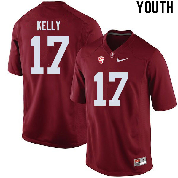 Youth #17 Kyu Blu Kelly Stanford Cardinal College Football Jerseys Sale-Cardinal