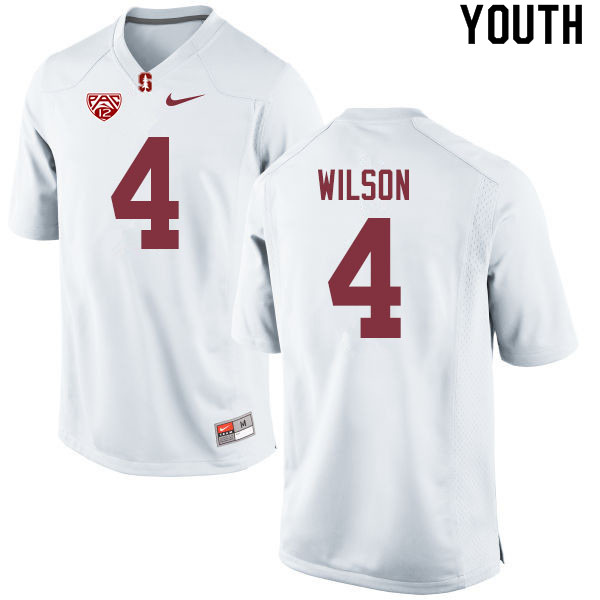 Youth #4 Michael Wilson Stanford Cardinal College Football Jerseys Sale-White