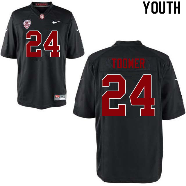 Youth #24 Nicolas Toomer Stanford Cardinal College Football Jerseys Sale-Black
