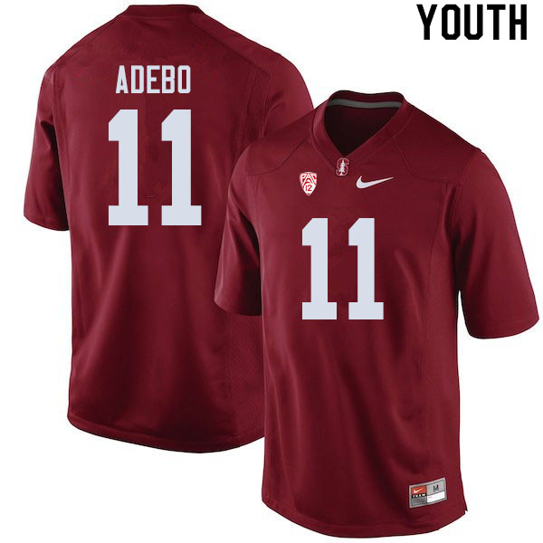 Youth #11 Paulson Adebo Stanford Cardinal College Football Jerseys Sale-Cardinal