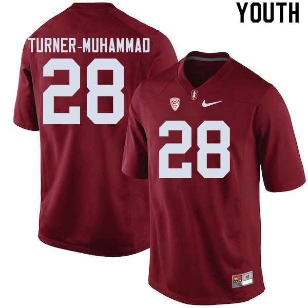 Youth #28 Salim Turner-Muhammad Stanford Cardinal College Football Jerseys Sale-Cardinal