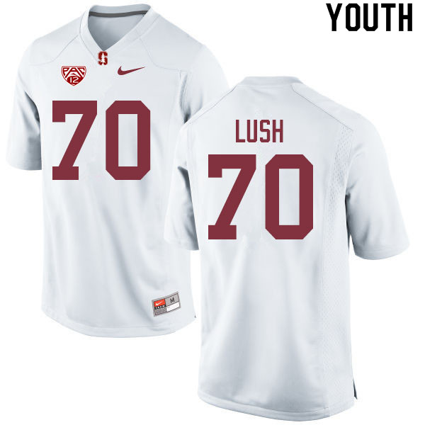 Youth #70 Wakely Lush Stanford Cardinal College Football Jerseys Sale-White