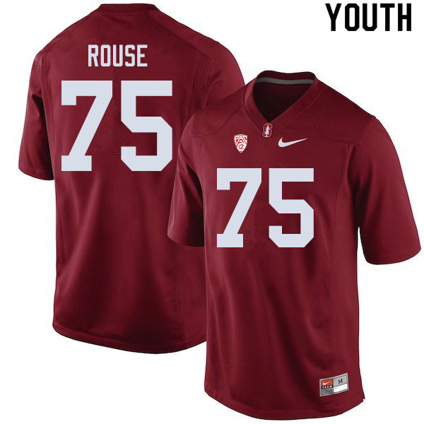 Youth #75 Walter Rouse Stanford Cardinal College Football Jerseys Sale-Cardinal