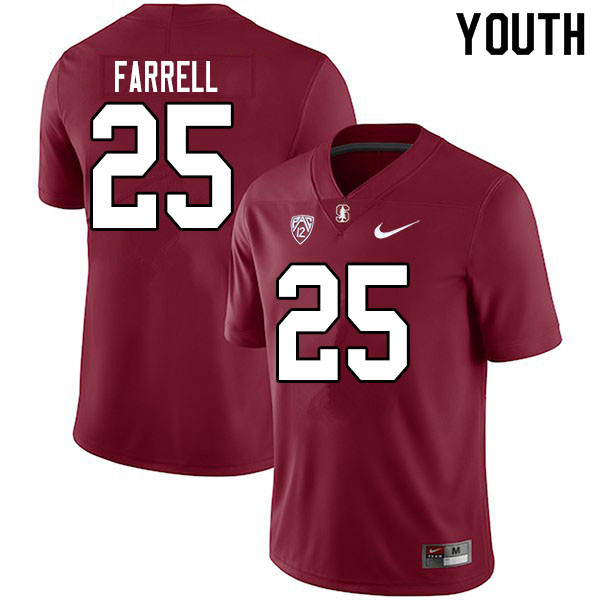 Youth #25 Bryce Farrell Stanford Cardinal College Football Jerseys Sale-Cardinal