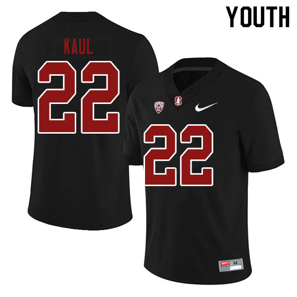 Youth #22 Jason Kaul Stanford Cardinal College Football Jerseys Sale-Black