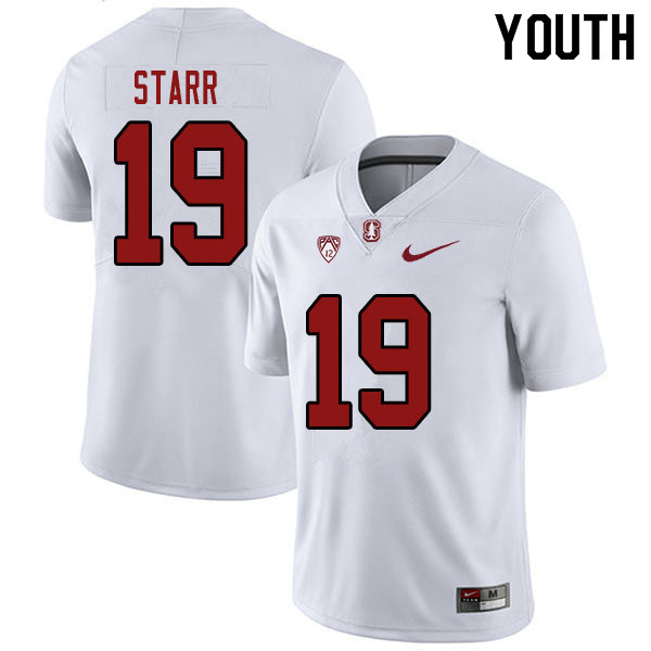 Youth #19 Silas Starr Stanford Cardinal College Football Jerseys Sale-White