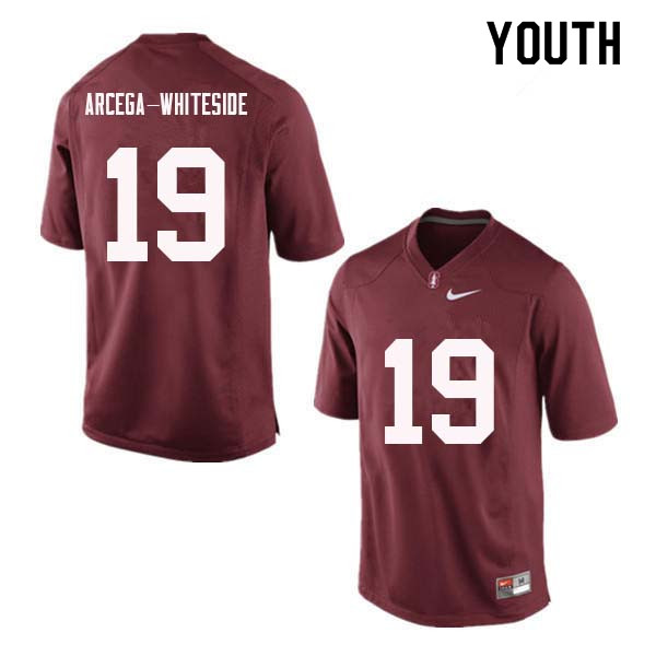Youth Stanford Cardinal #19 J.J. Arcega-Whiteside College Football Jerseys Sale-Red