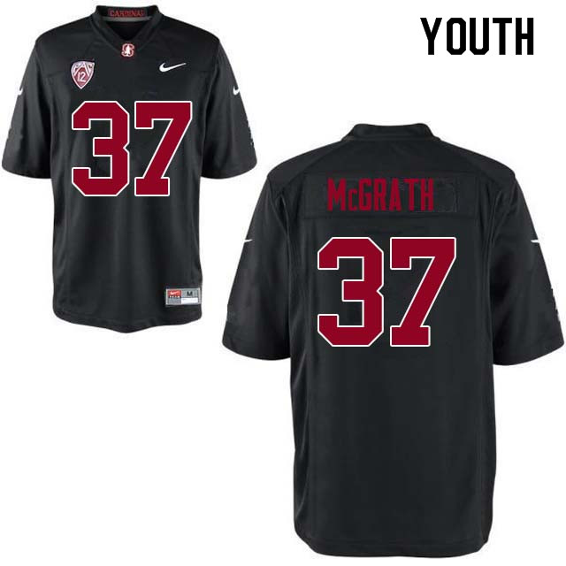 Youth Stanford Cardinal #37 Joe McGrath College Football Jerseys Sale-Black