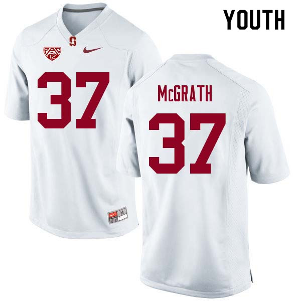 Youth Stanford Cardinal #37 Joe McGrath College Football Jerseys Sale-White