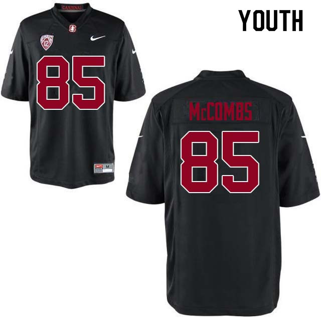 Youth Stanford Cardinal #85 Kyle McCombs College Football Jerseys Sale-Black