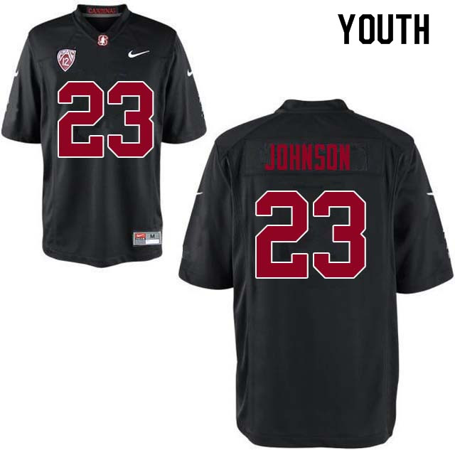 Youth Stanford Cardinal #23 Ryan Johnson College Football Jerseys Sale-Black