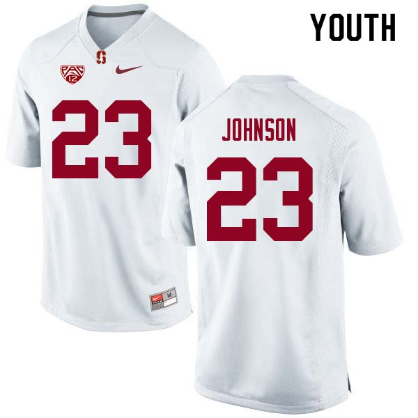Youth Stanford Cardinal #23 Ryan Johnson College Football Jerseys Sale-White