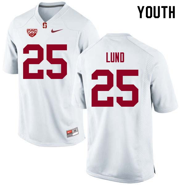 Youth Stanford Cardinal #25 Sione Lund College Football Jerseys Sale-White
