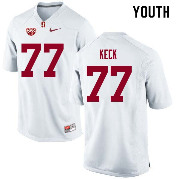 Youth Stanford Cardinal #77 Thunder Keck College Football Jerseys Sale-White