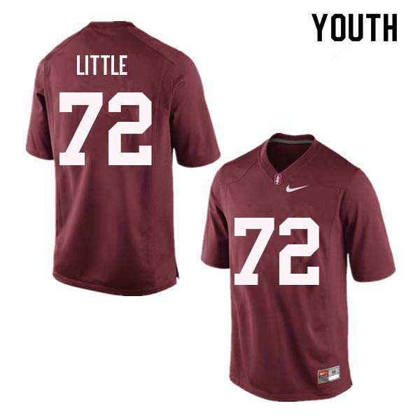 Youth Stanford Cardinal #72 Walker Little College Football Jerseys Sale-Red