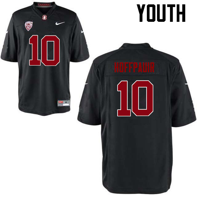 Youth Stanford Cardinal #10 Zach Hoffpauir College Football Jerseys Sale-Black